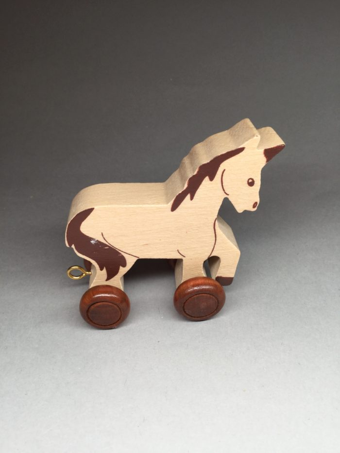 Children's Wooden Name Train Carriage On Wheels: Horse
