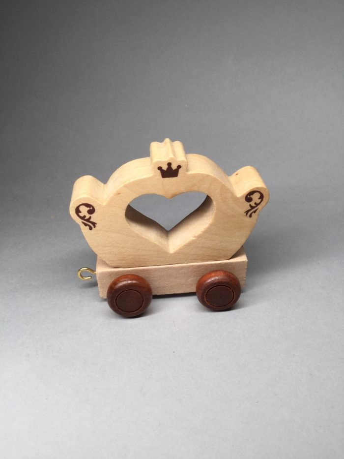 Children's Wooden Name Train Carriage On Wheels: Princess