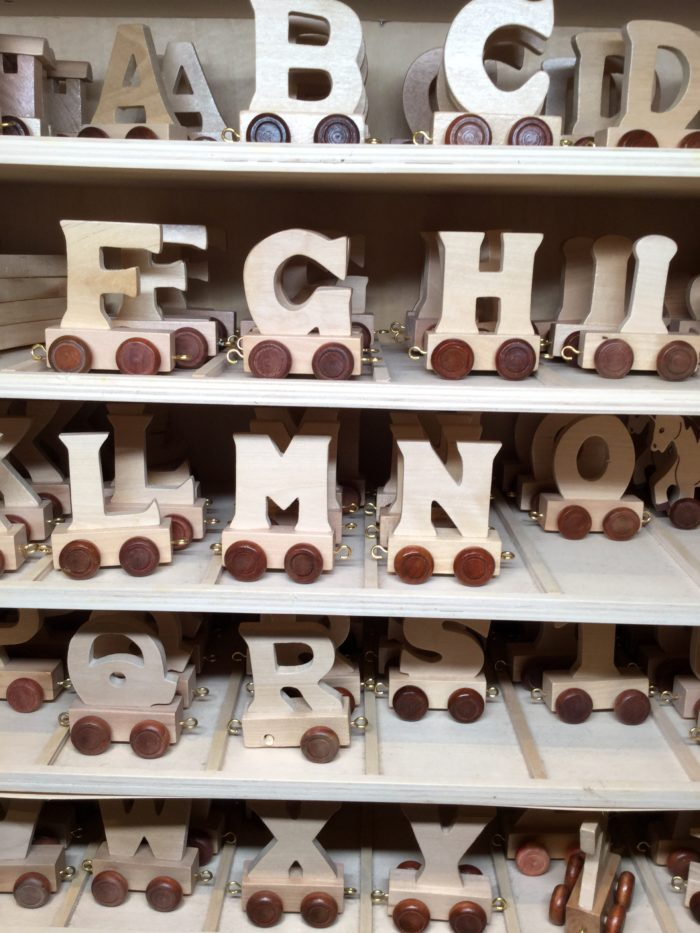 Children's Wooden Name Train Carriage Letters On Wheels