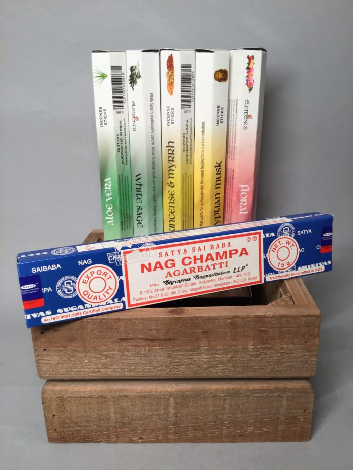 Incense Collection: Aloe Vera, White Sage, Frankincense & Myrrh, Egyptian Musk, Floral, Nag Champa. Joss Sticks