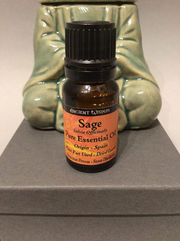 Bottle of Essential Oil: Original Sage Scent