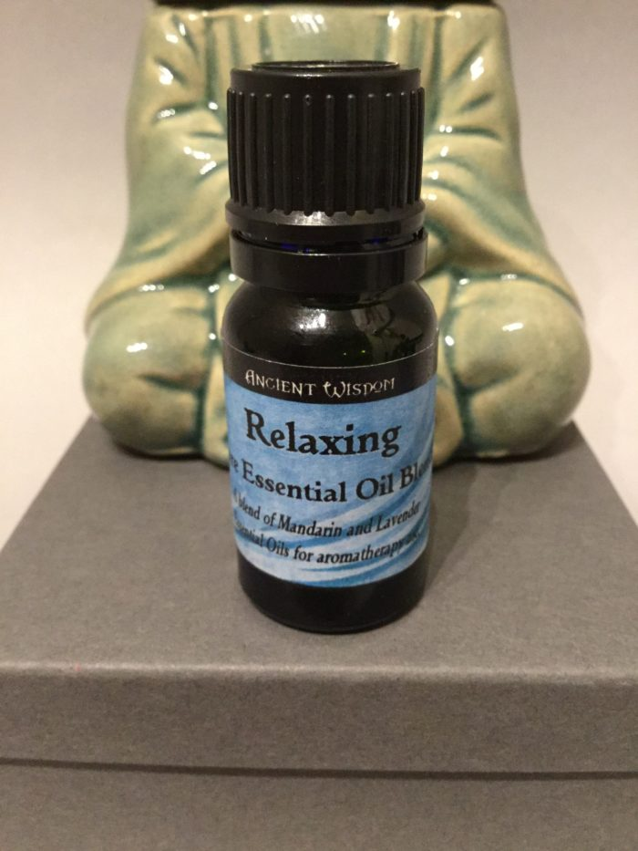 Bottle of Essential Oil: Relaxing Blend Scent