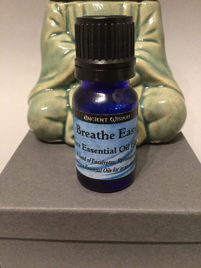 Bottle of Essential Oil: Breathe Easy Blend Scent