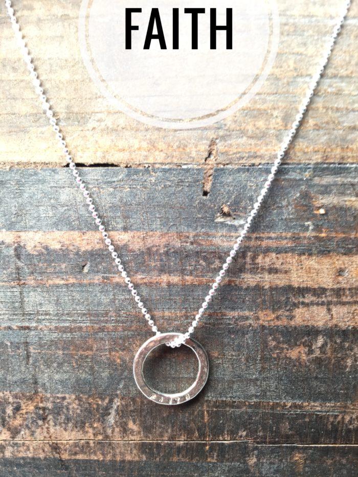 Sterling Silver Necklace Charms, Marlene Hounam: Faith