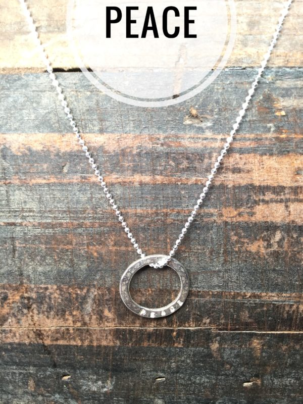 Sterling Silver Necklace Charms, Marlene Hounam: Peace