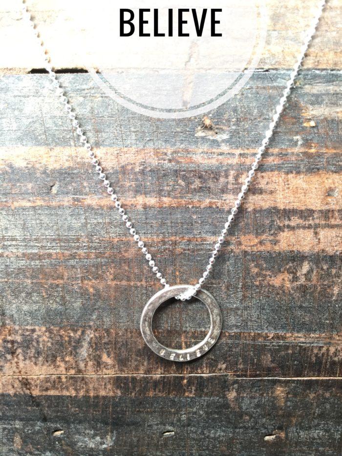 Sterling Silver Necklace Charms, Marlene Hounam: Believe