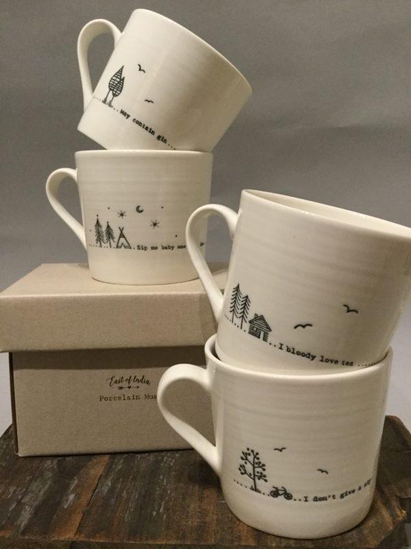 Porcelain Mugs - Wobbly