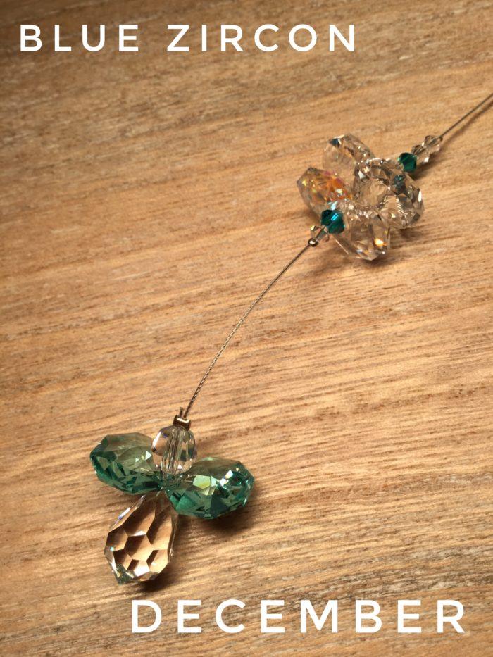 Hanging Crystal Guardian Angel: Blue Zircon December