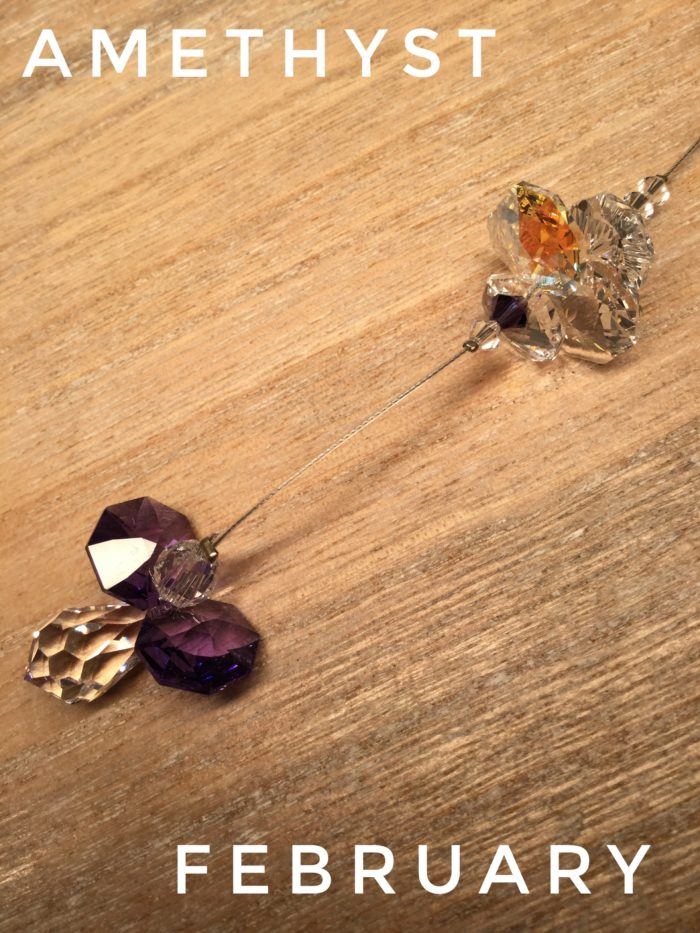 Hanging Crystal Guardian Angel: Amethyst February