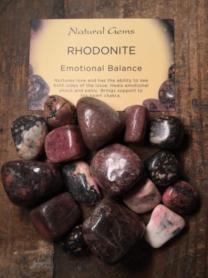 Crystal, healing, stones, spiritual, Rhodonite, emotional balance