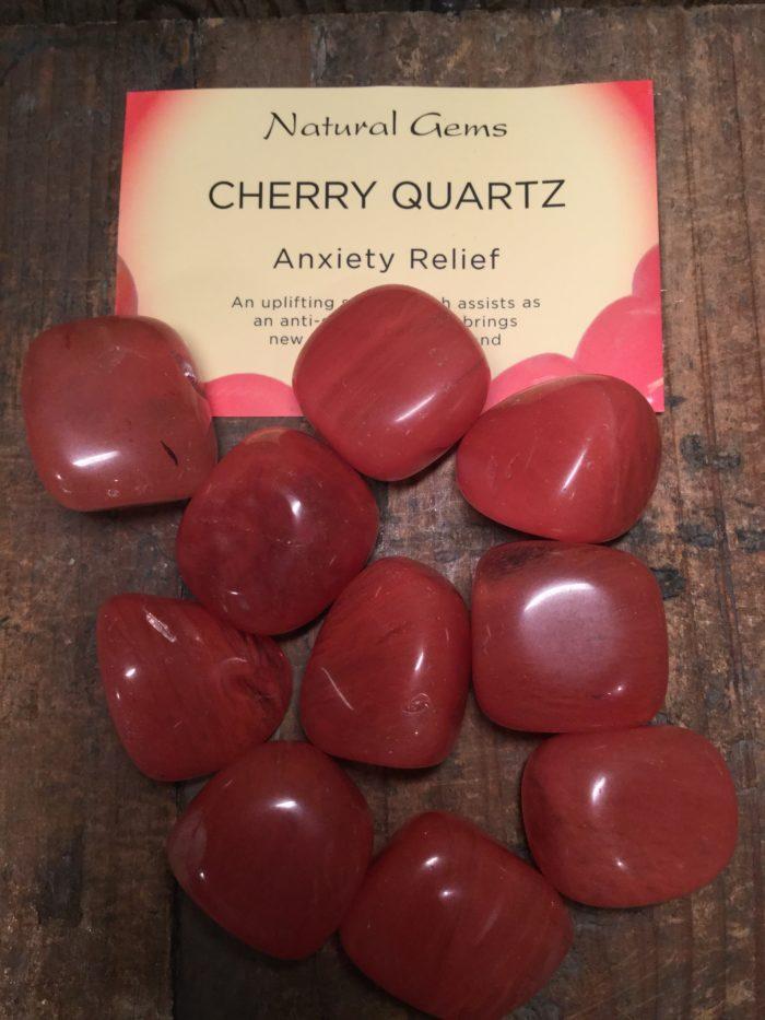 Crystal, healing, stones, spiritual, cherry quartz, anxiety relief
