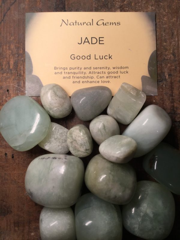Crystal, healing, stones, spiritual, jade, good luck, purity, serenity, wisdom, friendship, love