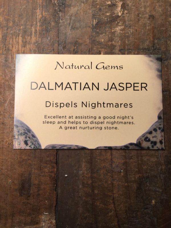 Crystal, healing, stones, spiritual, dalmatian jasper, dispels nightmares