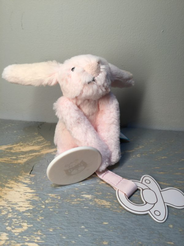 Jellycat, soft toys, baby, children, soft, birthday, christmas, new born, dummy clip, pink, bunny