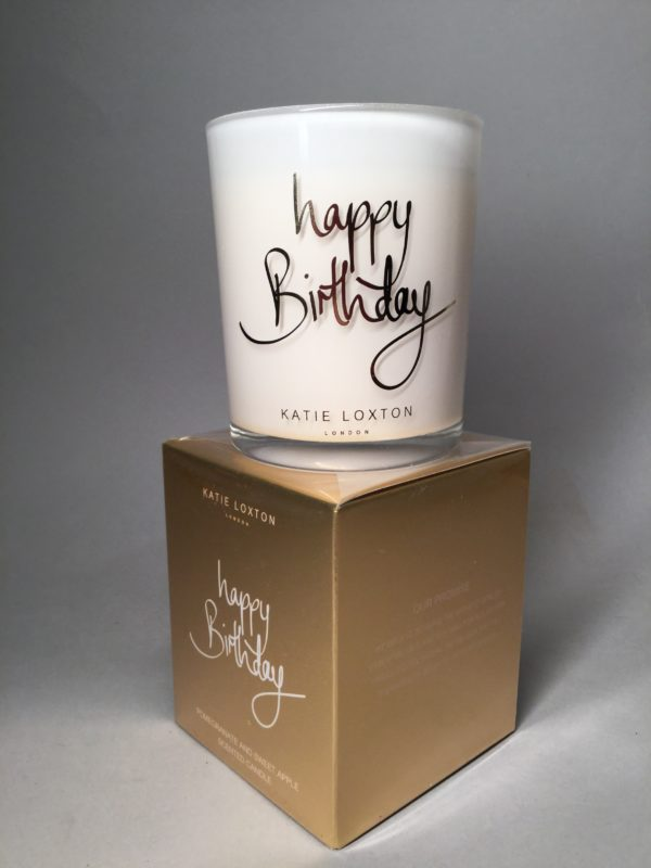 Katie Loxton, Happy Birthday, Candle, Scented