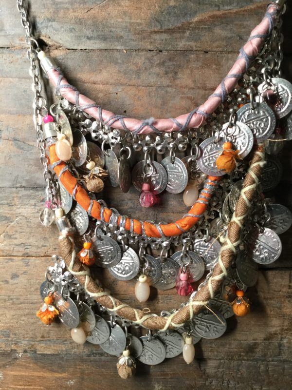 costume jewellery, statement, silver, coins, Moroccan, necklace, fashion, style