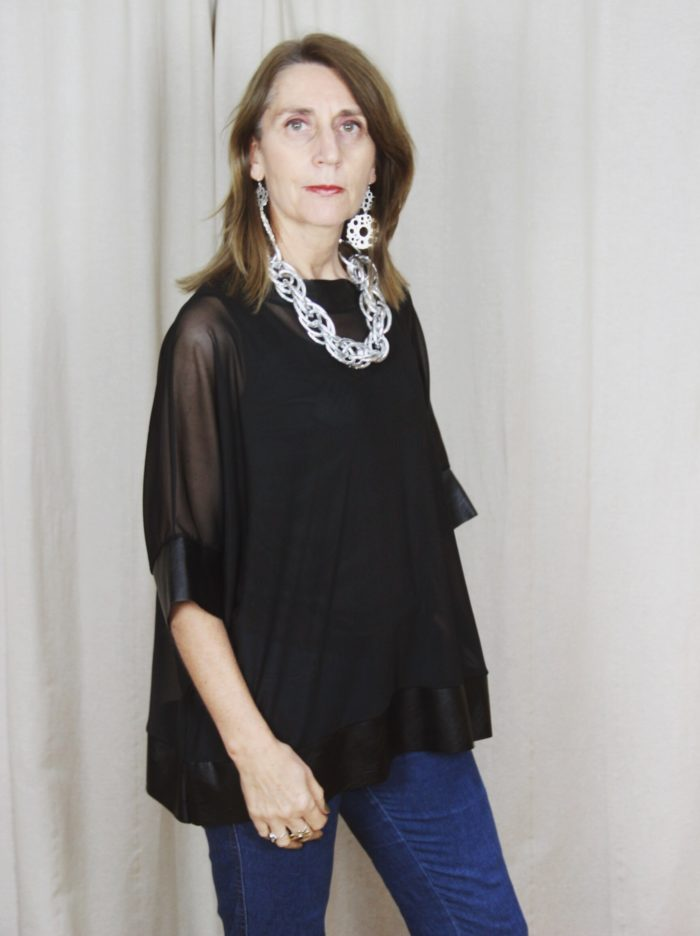 Sheer_Plain_Black_Top_With_Vest_And_Necklace