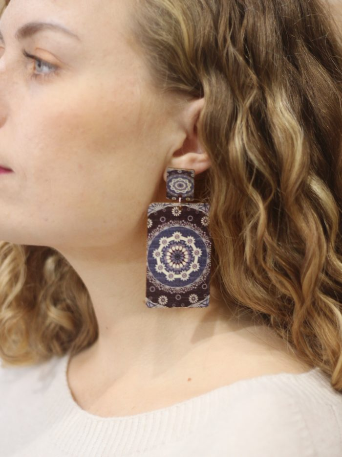 Statement, earrings, patterned, different