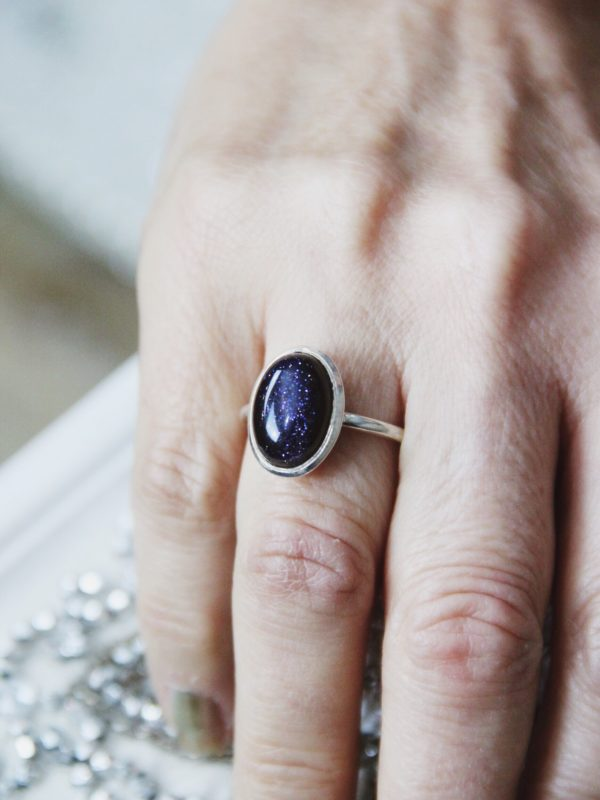 Blue_Goldstone_Sterling_ Silver_Ring