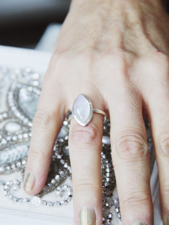 Rainbow_Moonstone_Silver_Ring_Small Pointed Oval Shape