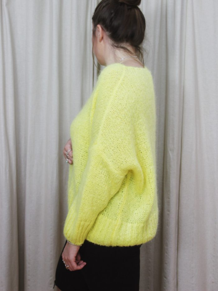 Top, fashion, winter, jumper, mohair, wool, top-half, yellow