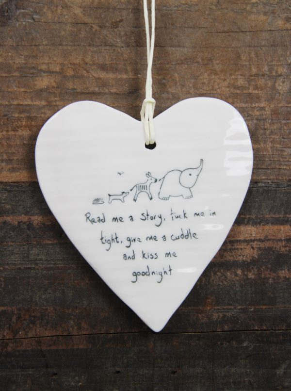 east of india, porcelain, gift, heart, word, sayings, personal,