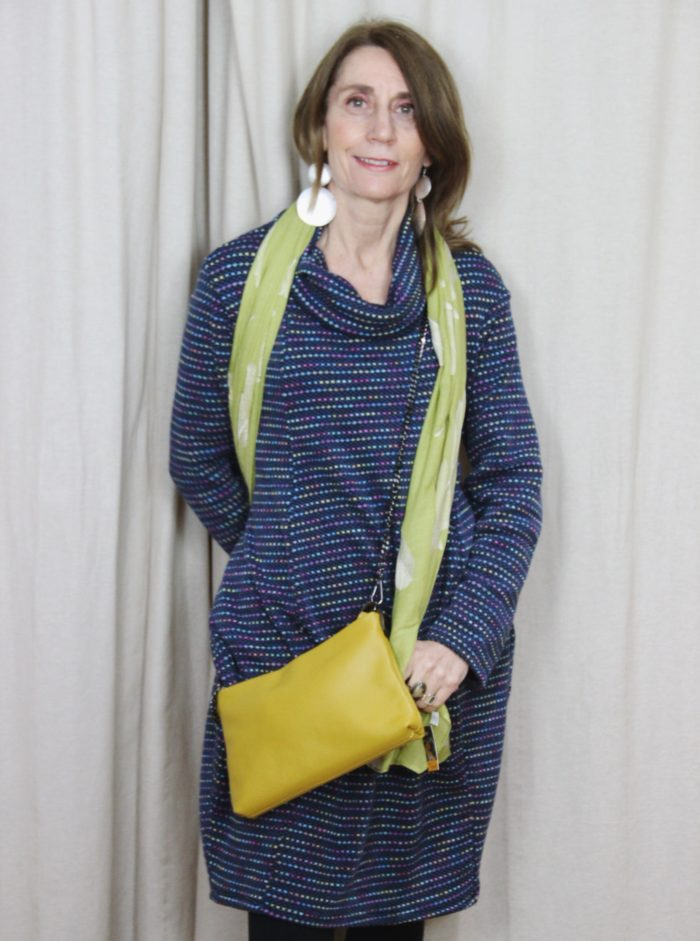 spotted, jumper, dress, pattern, colours, fashion, style