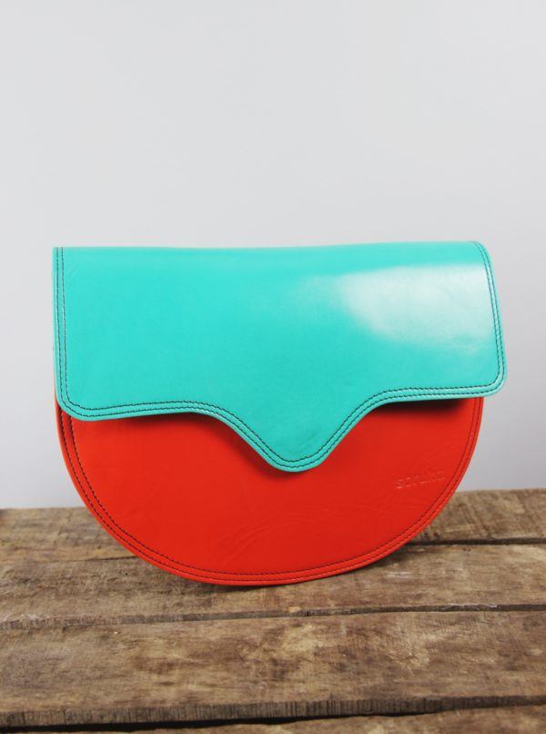 Recycled_leather_Orange_Turquoise_Bag