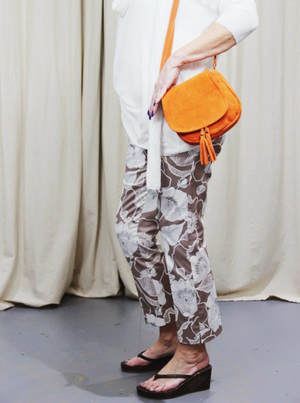 pomodoro, print, cropped, trousers, chambray, stone, floral, summer, spring, fashion, style