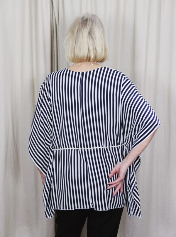 stripped, top, with, belt, spring, summer, fashion, style