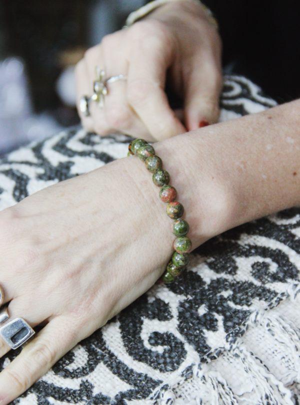 power, bracelets, healing, crystals, green jasper, healing, nuturing