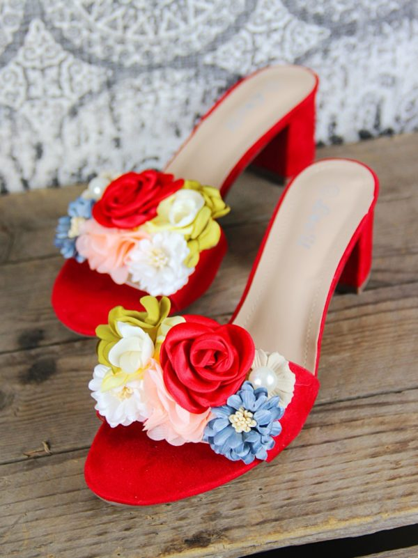 Floral_Sandals_With_Small_Heel_In_Red
