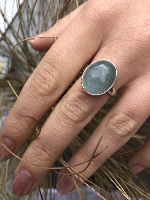 Aquamarine-Silver-Ring