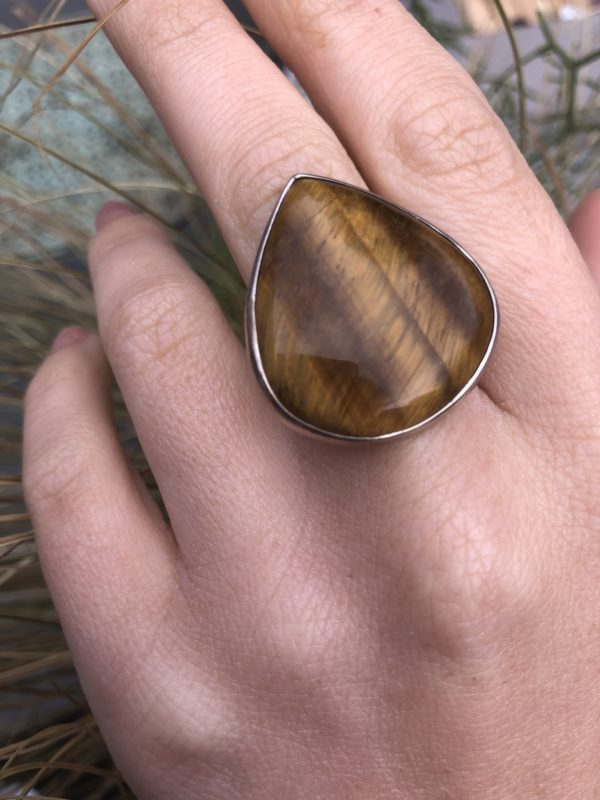 Tigers-Eye-Silver-Ring
