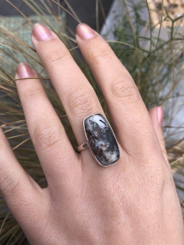 Ashtrophyllite-Silver-Ring