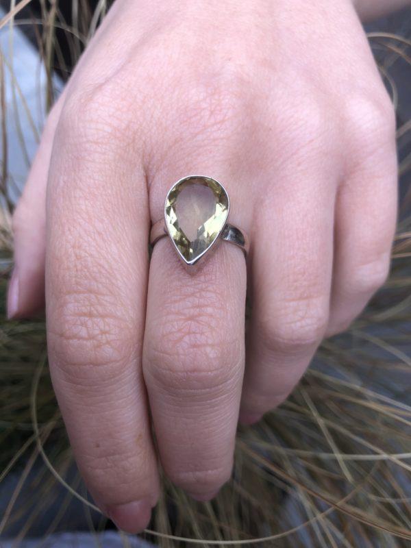 Citrine-Silver-Ring