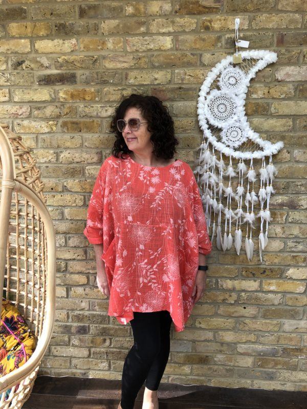 Whitcombe-Top-Coral-Print