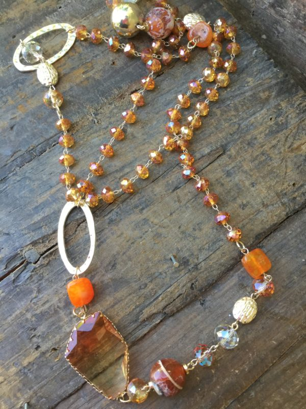Amber-Beaded-Gold-Costume-Necklace
