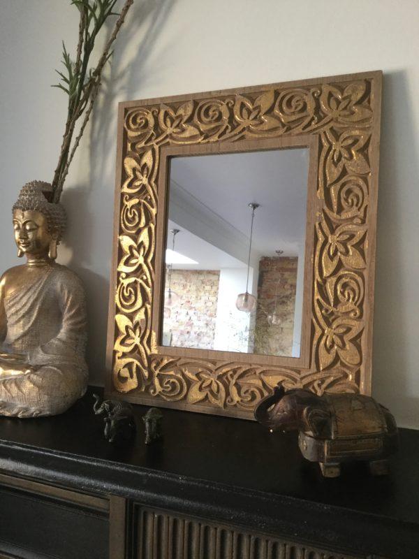 Boho-Gold-Wood-Engraved-Mirror