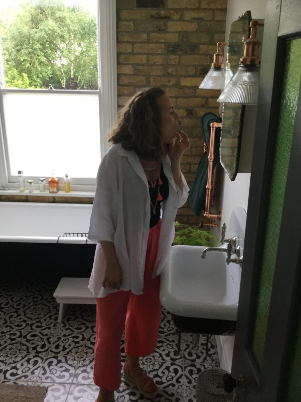 Cinnamon-Shirt-White-Gemma-Trousers-Coral