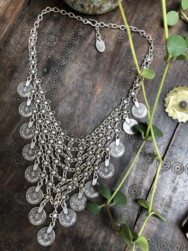 Chalamet-Chain-Mail-Necklace-Silver-Coins