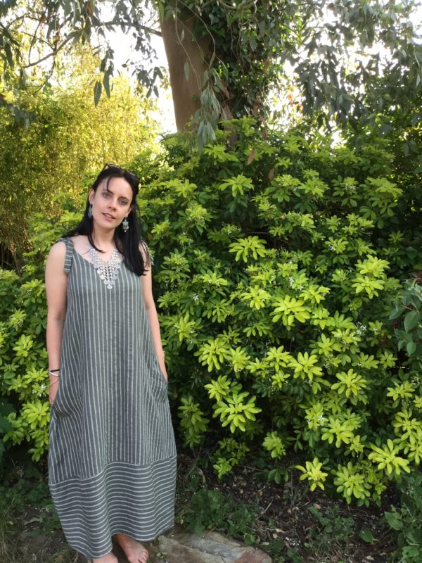 Lottie-Pin-Stripe-Dress-Khaki