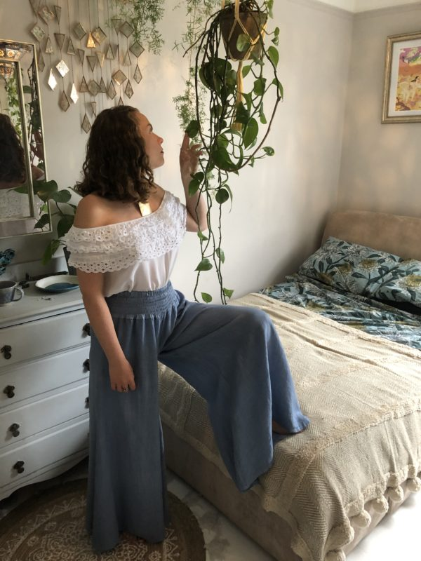 Annie-Trousers-Flares-Pale-Denim-Thanyia-Lace-Top