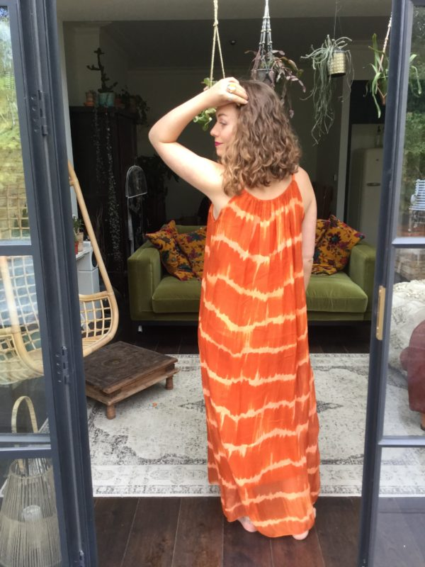Yasmin-Dress-Orange-Tie-Dye
