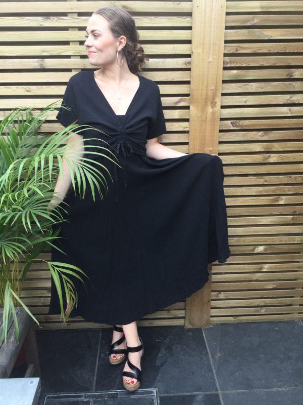 Bolly-Drawstring-Dress-Black