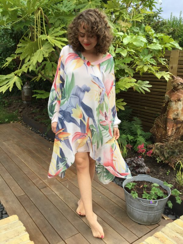 Coco-Dress-Pink-Bold-Colourful-Tropical-Pattern