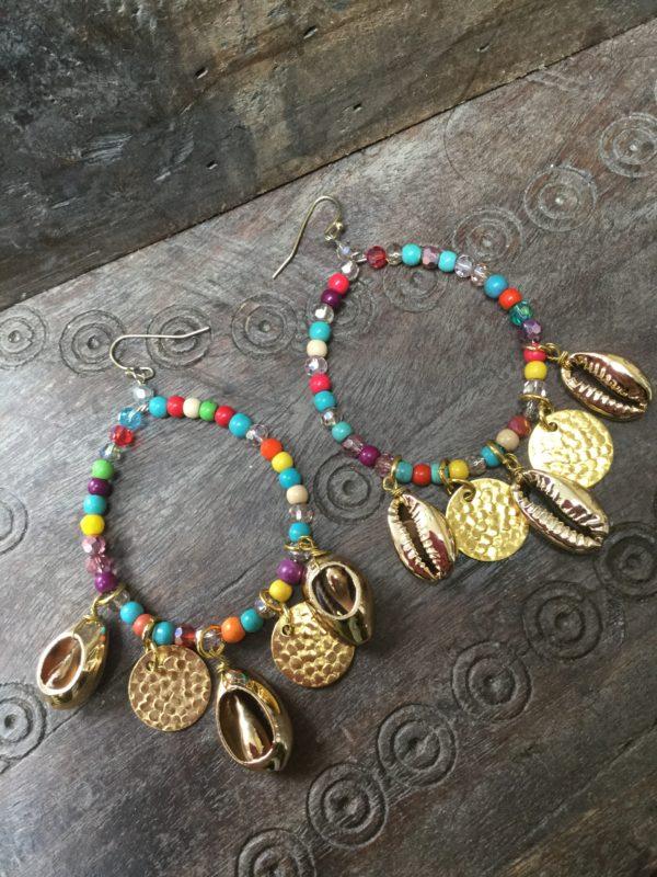 Shelly-Earrings-Multi-Coloured