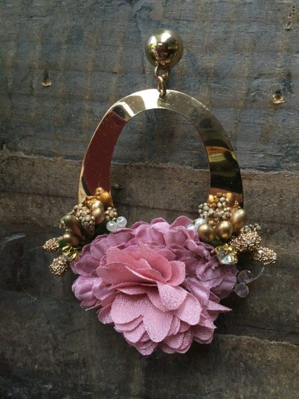 Milkshake-Earrings-Gold-Hoop-Floral