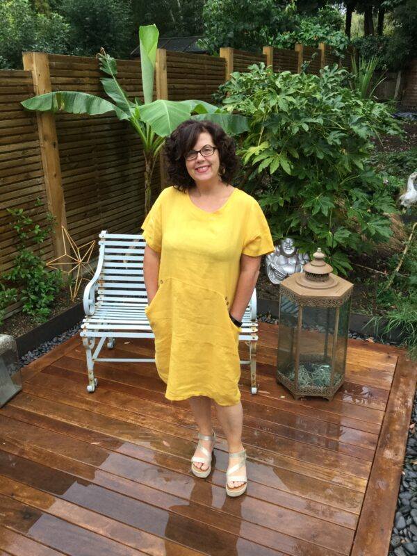 Petersham-Linen-Dress-Burnt-Yellow