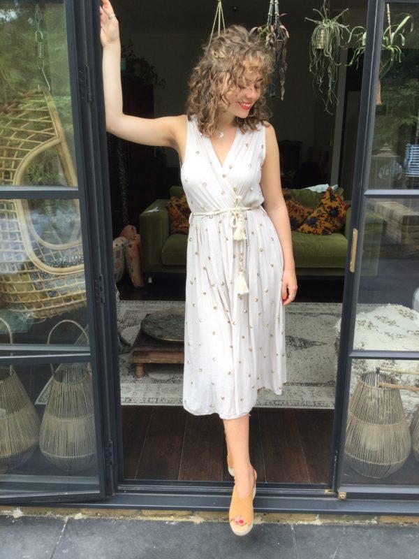 Roman-Sequin-Dress-Beige